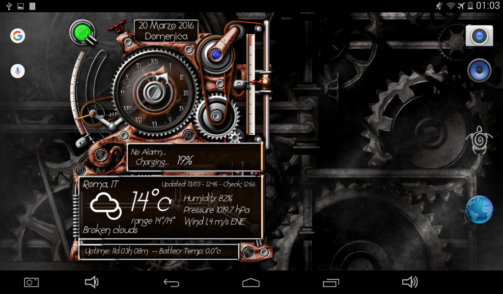 XtraOClock Steampunk Widget Screenshot 10