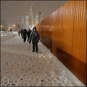 Policeman by Dmitry Ryzhkov - City,  Street & Park  Street Scenes
