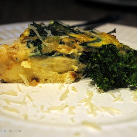 Dairy Free Crustless Spinach and Bacon Quiche