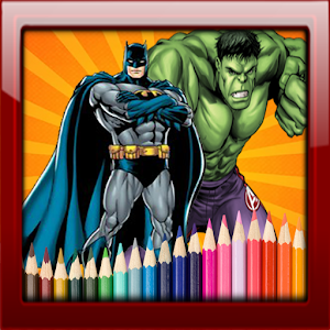Super Hero Coloring Smart