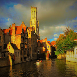 Bruges, Belguim by Ian Harvey-Brown - City,  Street & Park  Street Scenes