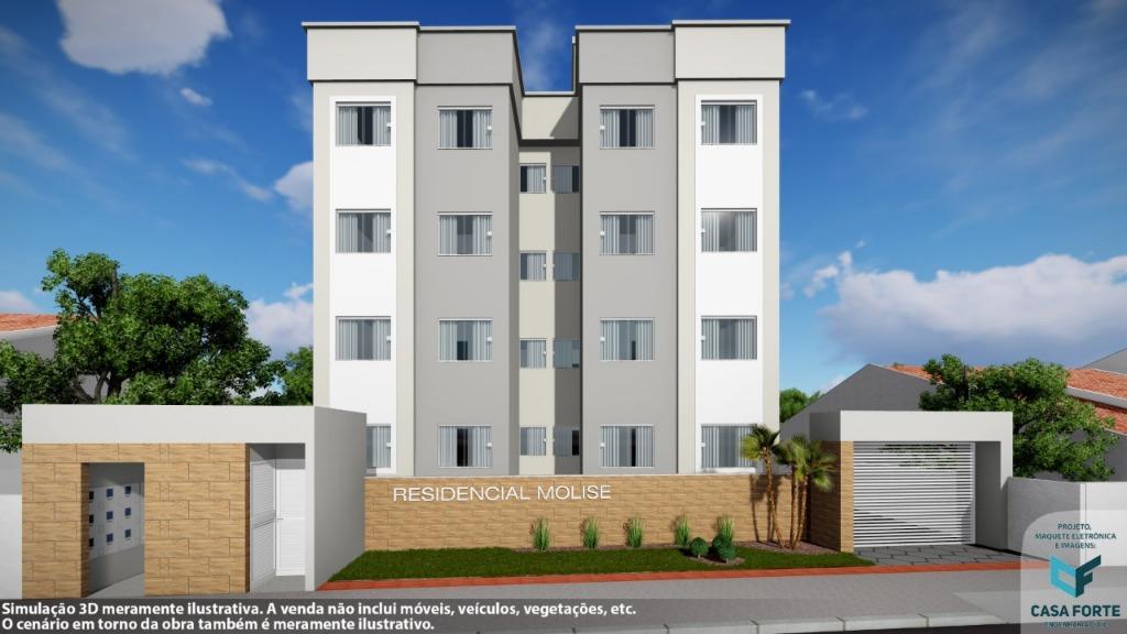 Apartamento com 2 dormitórios à venda, 45 m² por R$ 130.000 - XV de Novembro - Tijucas/SC
