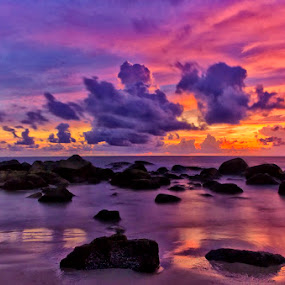 Sunset by Charliemagne Unggay - Landscapes Weather