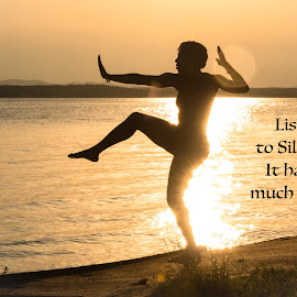 Listen To Silence by Kathy Suttles - Typography Quotes & Sentences