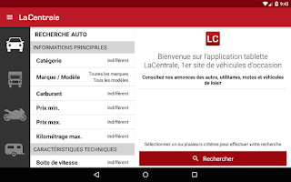 Screenshot of La Centrale voiture occasion
