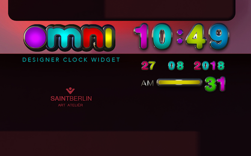 Omni Digital Clock Widget - screenshot
