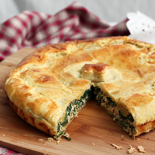 Salmon and Spinach Torte