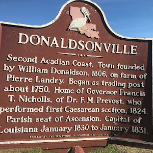 Second Acadian Coast. Town founded by William Donaldson, 1806, on farm of Pierre Landry. Began as trading post about 1750. Home of Governor Francis T. Nicholls, of Dr. F.M. Prevost, who performed the ...