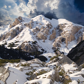 Furcia de Fanes by Mark Soetebier - Landscapes Mountains & Hills ( dolomiten, canon, alpen, dolomiti, alpi, fanes, dolomites, unesco, alps )