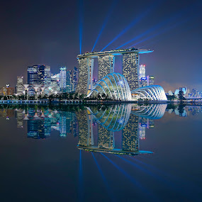 High Rise Lasers by Vince Chong - Buildings & Architecture Other Exteriors