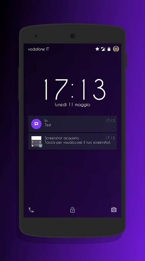 Transparent Purple -CM13 Theme Screenshot 4