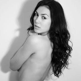 Mirna by Tina Balgavi - People Portraits of Women ( nude, b&w, tattoos, back, hair, eyes,  )