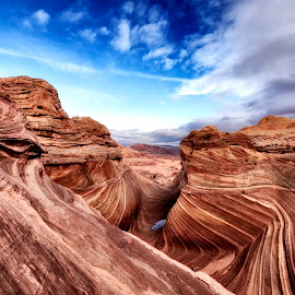 The Wave by Ramon Salazar - Landscapes Deserts ( desert, page, arizona, rock, lines )