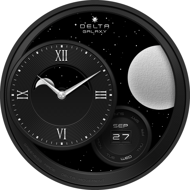Galaxy watchface by Delta Screenshot 4