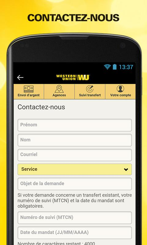 Send money with Western Union Screenshot 5