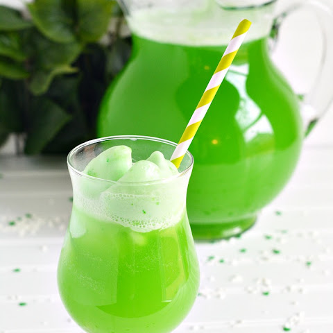 Shamrock Lime Sherbet Party Punch Recipe for St. Patrick's Day