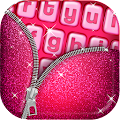 Pink Glitter Keyboard Art for Lollipop - Android 5.0