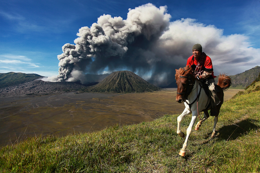 Bromo's Horseman III by Perak Man - Landscapes Travel