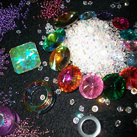 Beading Collection by Marie McAneney - Artistic Objects Jewelry ( #sparkly, #cotton, #beading, #crystals, #pretty,  )