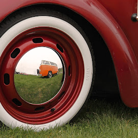 Mirroring by Michal Fokt - Transportation Automobiles ( wheel, vintage )