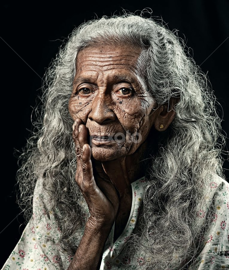 OLD WOMEN by Abe Less - People Portraits of Women