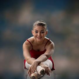 Ballet dancer  by Annaline Werth - People Portraits of Women