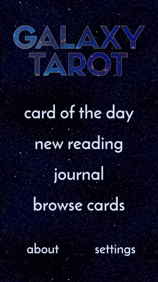 Galaxy Tarot Pro Screenshot 0