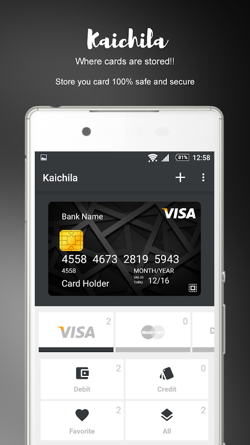 Kaichila (Wallet) Screenshot