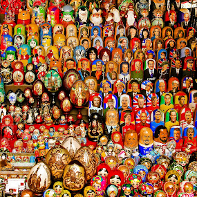 Babushkas by HB Jansson - Artistic Objects Other Objects ( russia, dolls, who-is-who, moscow, babushka )