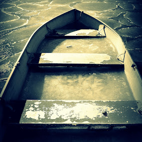 Lonely Boat by Lizz Condon - Transportation Boats