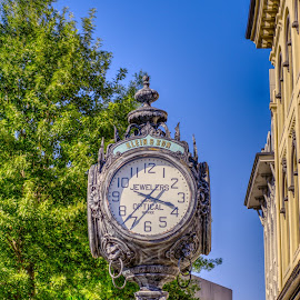 Right on Time by Rex Murr - Artistic Objects Industrial Objects ( time, hdr, clock, buildings, trees )