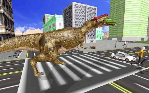 Super Dinosaur Attack Dino Robot Battle Simulator APK screenshot thumbnail 3
