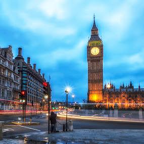 Sunset @ Big Ben  by Sefanya Dirgagunarsa - Travel Locations Landmarks ( uk, london, clock, house of parliament, big ben )