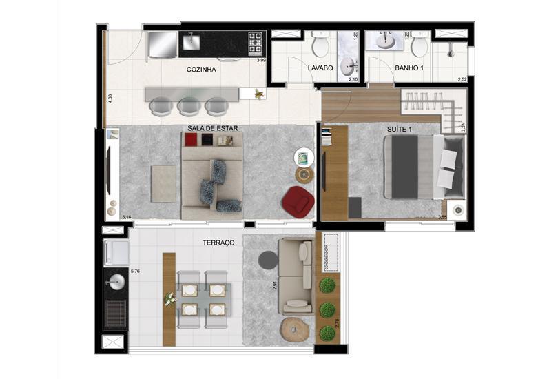 Planta Final 9 - 63 m²