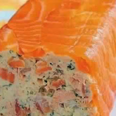Roll Of Cottage Cheese And Smoked Salmon
