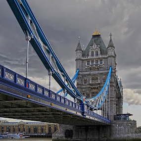 Tower bridge - London by Ivana Miletic - Travel Locations Landmarks ( london, the thames, tower bridge, bridge, ivana miletic, the clouds )