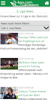 Screenshot of 3. Liga Fußballportal