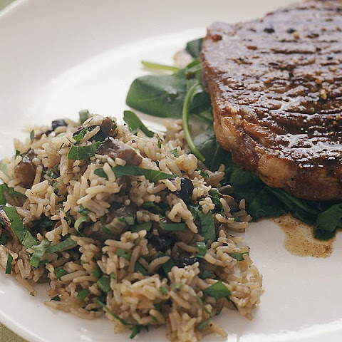 Mushroom and Parsley Pilaf