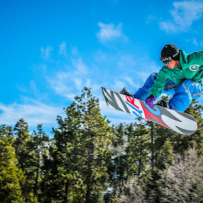Rail Grab by Jay Woolwine Photography - Sports & Fitness Snow Sports ( snowboard, ski, skiing, snow summit, action, snowboarding )