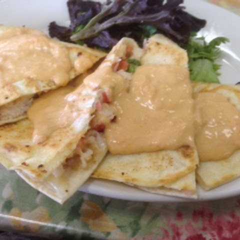 Lobster Quesadillas with Newburg Sauce