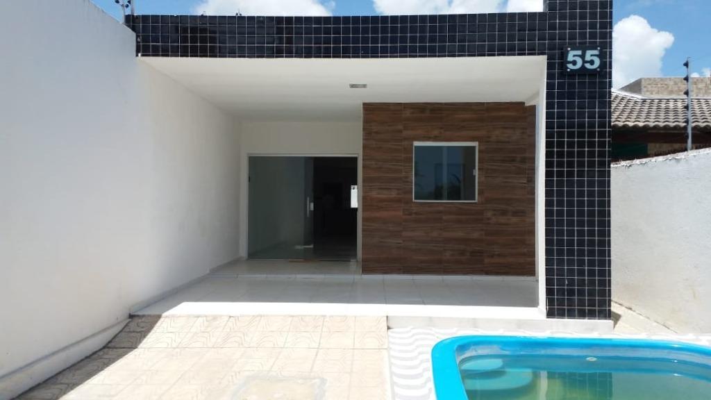 Casa com 3 dormitórios,101 m² por R$ 160 mil - Carapibus - Conde/PB