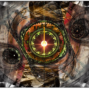 Time Is Of The Essence by Nancy Bowen - Illustration Products & Objects ( flare, light, clocks, watches, shadows )