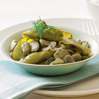 Braised Whole-pod Fava Beans with Dill