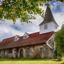 St Peter and St Paul Horndon On The HIll by Dave Godden - Buildings & Architecture Places of Worship ( bell, hill, horndon, tower, canopy, wooden, paul, tree, church, essex, peter, trees )