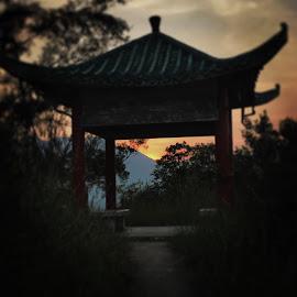 Sunset Pagoda by Kylie Harrison - Instagram & Mobile Instagram ( hong kong )
