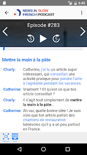 News in Slow French - screenshot