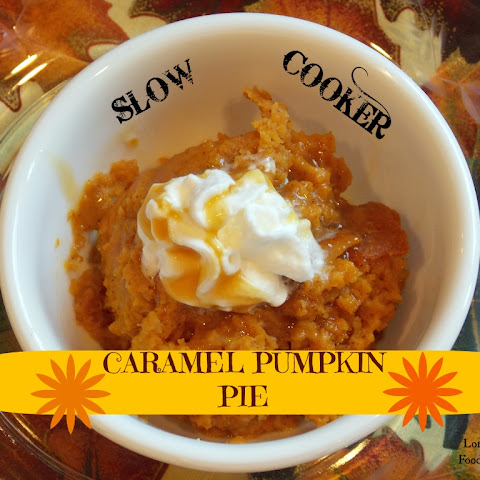 Slow Cooker Caramel Pumpkin Pie