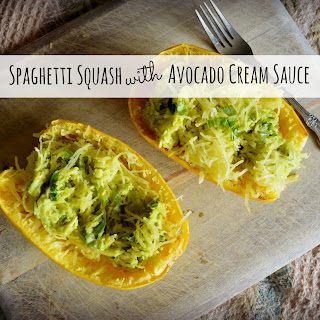 Meatless Monday - Spaghetti Squash With Avocado Cream Sauce