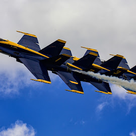 Blue Angels by Mike Vaughn - Transportation Airplanes ( navy jets, new orleans, air show, blue angels )