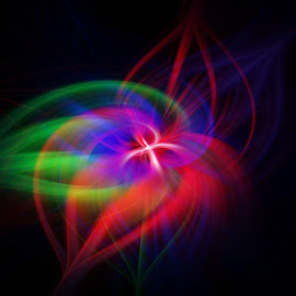 Whoosh by Steve Kazemir - Abstract Patterns ( abstract, red, pattern, blue, green, explosion, star, colours )